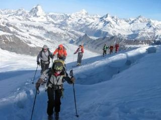 Ski touring with guides
