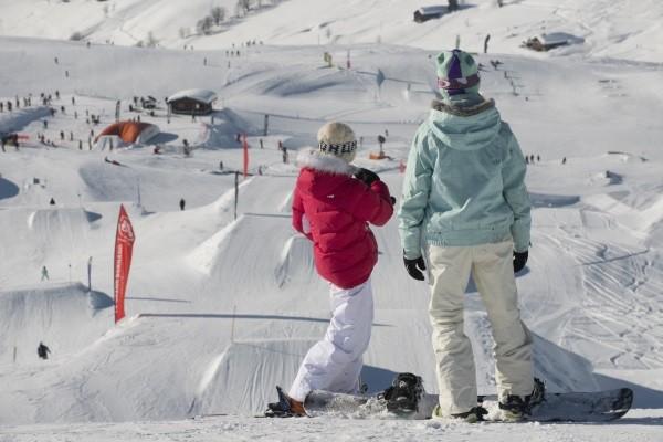 Snowparks und Boarder Cross