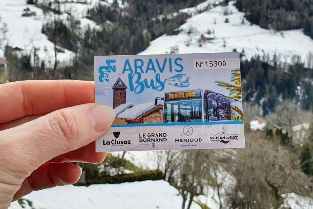 Carte Aravis Bus