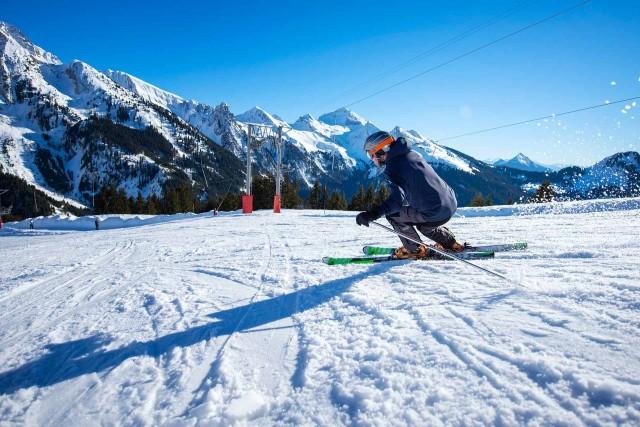 Alpine skiing in Manigod