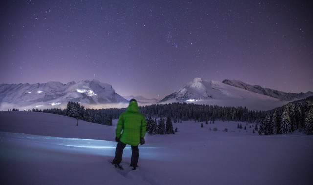 Ski under the stars