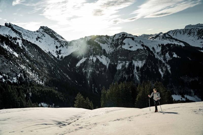 Nordic skiing Manigod