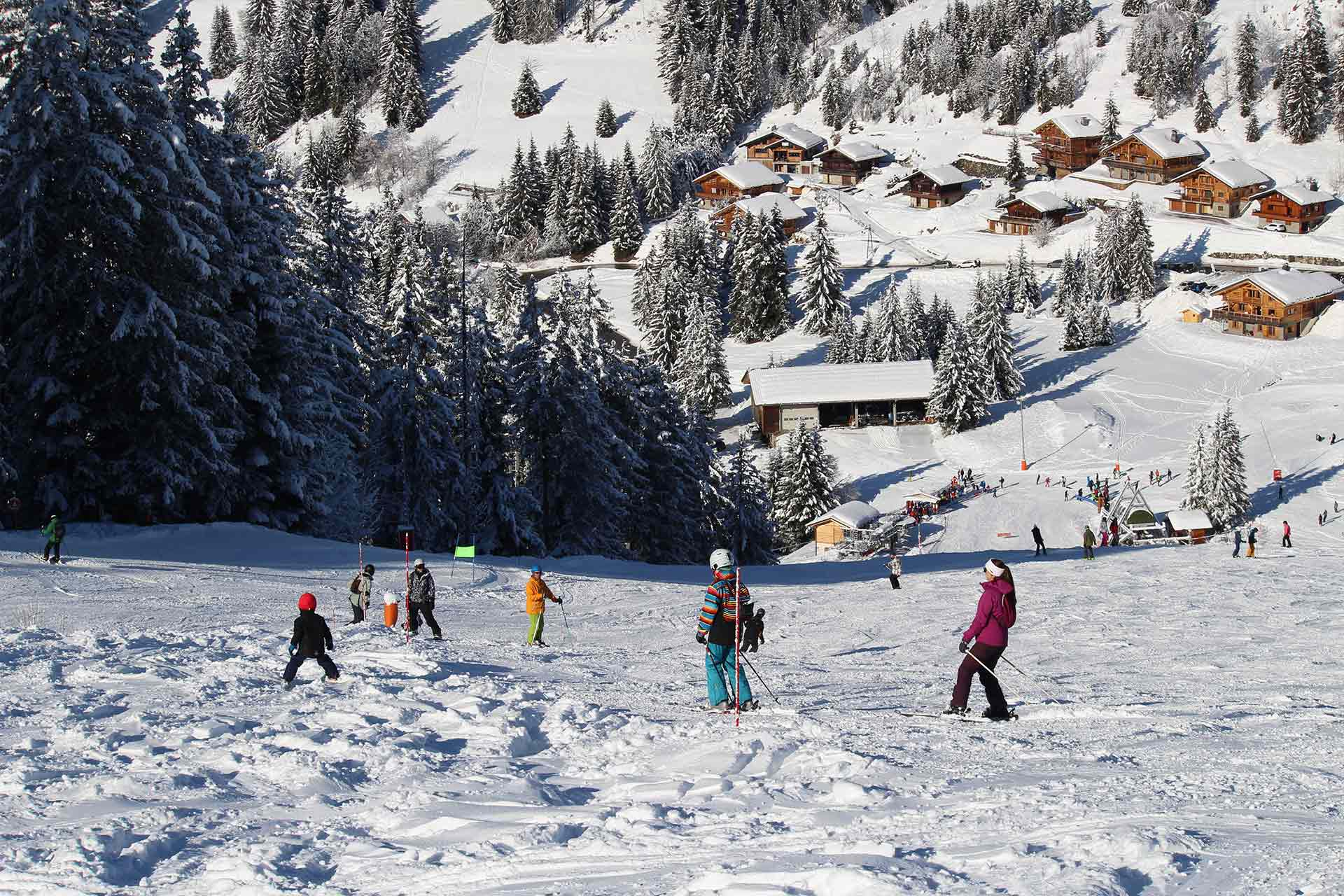Alpines Skifahren Manigod - © M. Sauvage