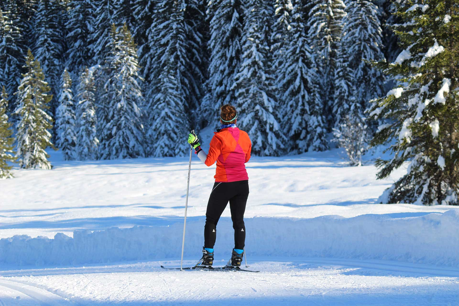 Cross-country skiing in Manigod - © M. Sauvage